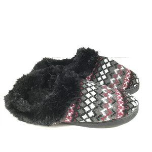 Muk Luks Clog Slippers Black Size Large 9-10